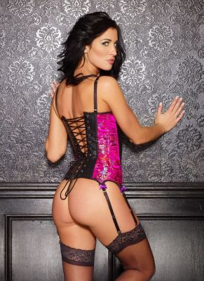 Leather and Brocade Ellie Corset