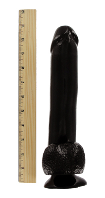 Mighty Midnight 10 Inch Dildo with Suction Cup