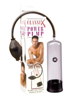 Indulge yourself with the simple pleasures of a classic! Increase your penis size and thickness and enjoy the hardest erections you have ever had. Simply cover the air release valve, place your penis into the sleeve-lined shaft, squeeze the medical-style pump ball, and watch your hard-on swell with power! Amaze your partner with restored confidence and renewed sexual drive. For the ultimate pleasure experience, go back to the basics.  Measurements: 7.5 inch interior length, 2.15 inch inner diameter of cylinder opening  Material: Acrylic, Rubber