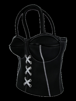 Corset Purse - Black or Pink