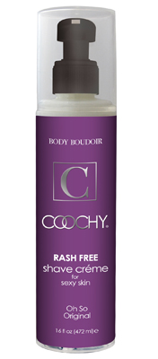 "Coochy Rash-Free Shave Creme Original 16 Fl. Oz. The ""The Original"" rash-free shave creme. Perfect for intimate shaving as well as all areas of the body. This product if formulated for all skin types including sensitive skin. Alluring array of light florals with a hint of baby powder freshness. Comes in a 16 fl. oz. bottle."