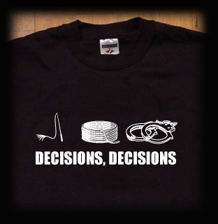 decisions bondage t shirt