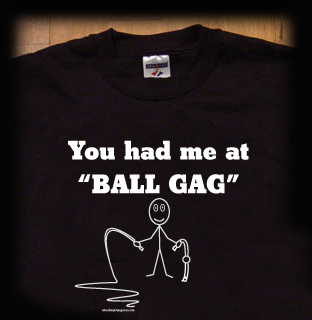 ball gag t shirt