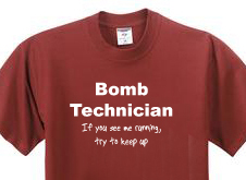 Bomb technician t shirt