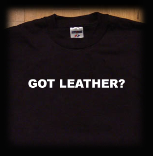 got leather t shirt