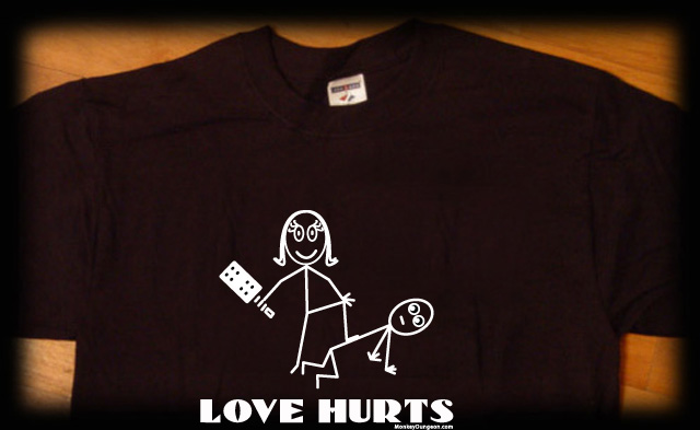 love hurts stick figures