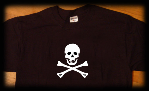 skull and crossbones t shirt