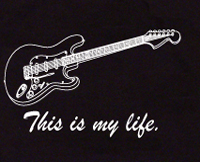 this is my life guitar t shirt