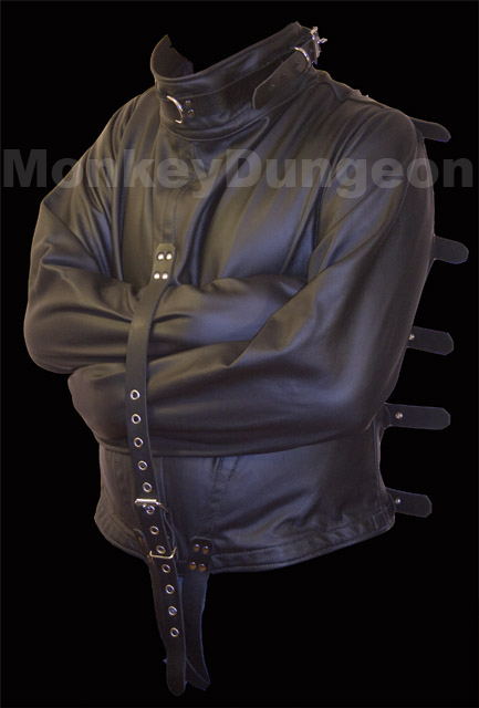 All leather Straight Jacket large restraint houdini | eBay