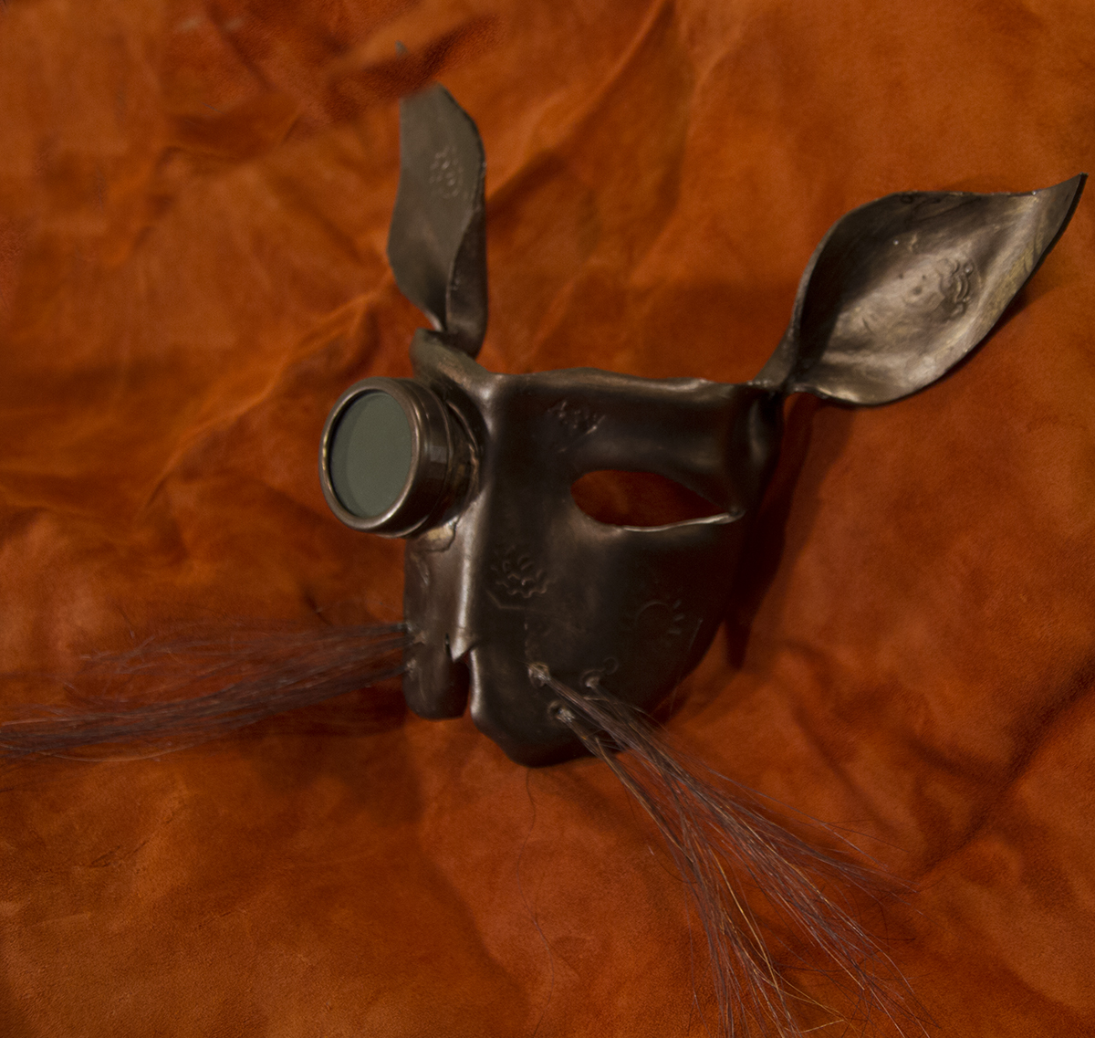 bronze bunny steampunk mask