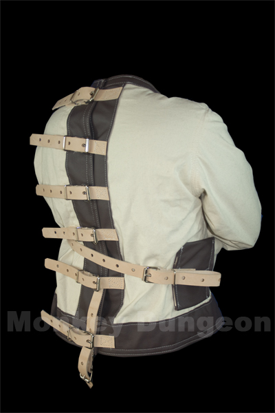 canvas and leather houdini style straight jacket