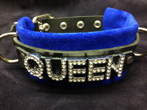 queen leather collar