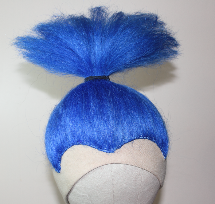 Blue Yak clown wig
