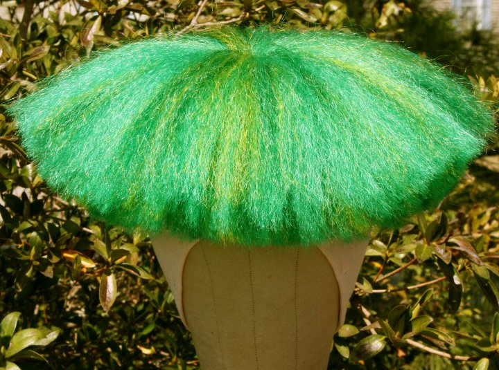 green clown yak wig moe
