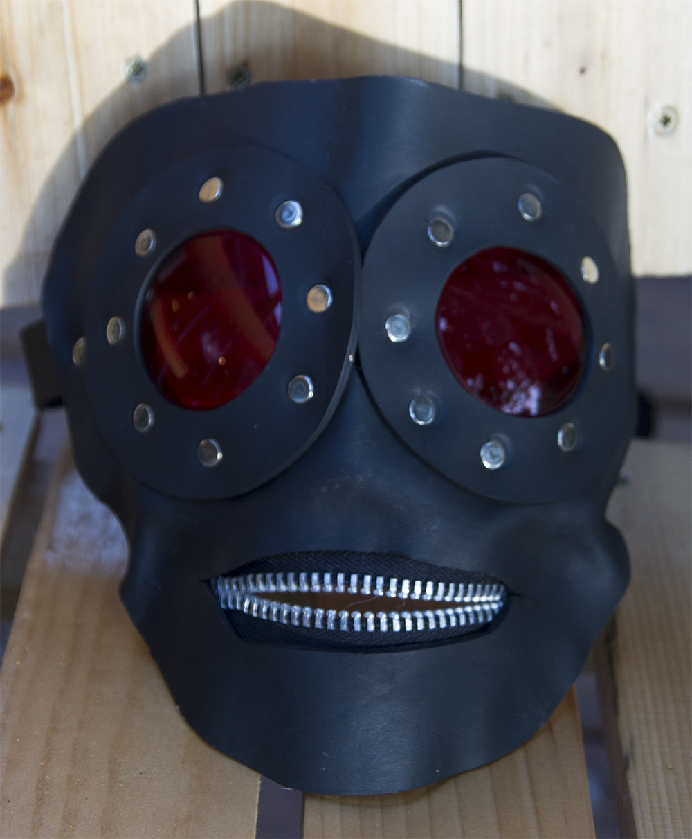 black leather gimp mask