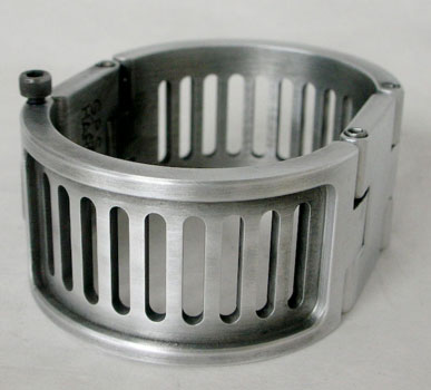Metal Cuff with Slots - Wrapped