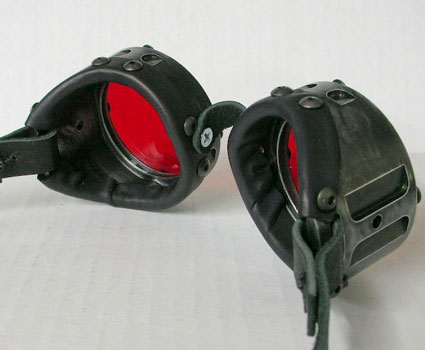Machined Cyber Industrial Goggles - Black Rub-Off Finish