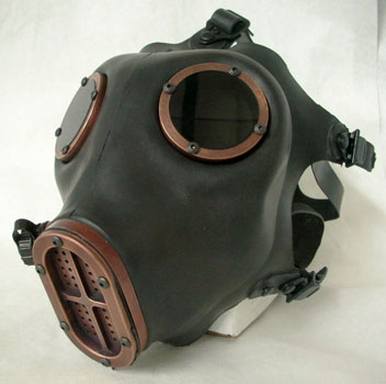 Industrial Gas mask -Antiqued Copper