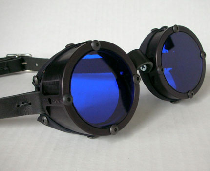 Machined Cyber Industrial Goggles, Black Anodized Finish