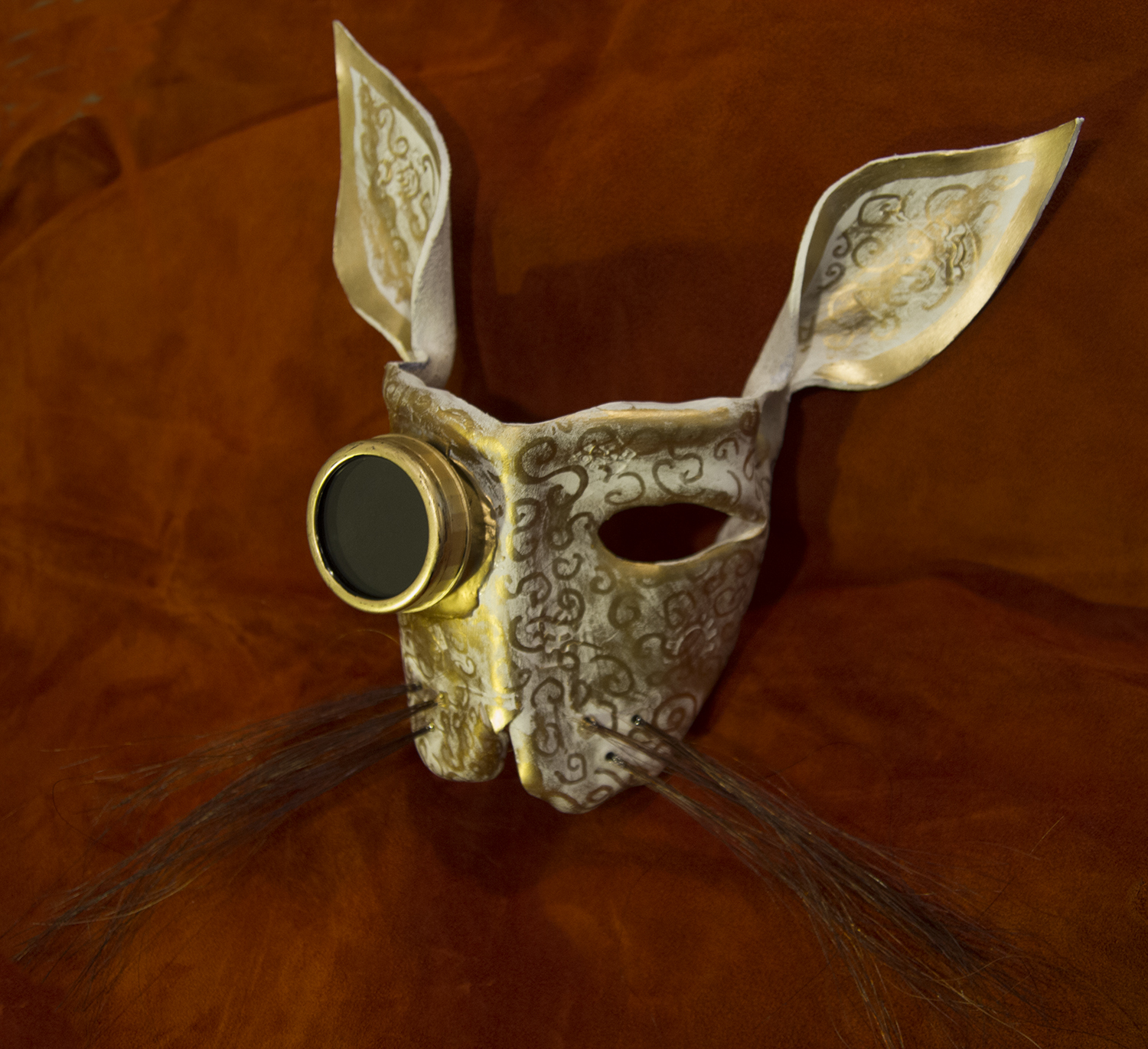 leather steampunk bunny mask