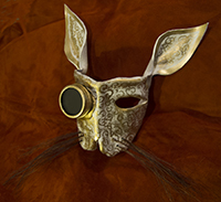 leather bunny steampunk mask