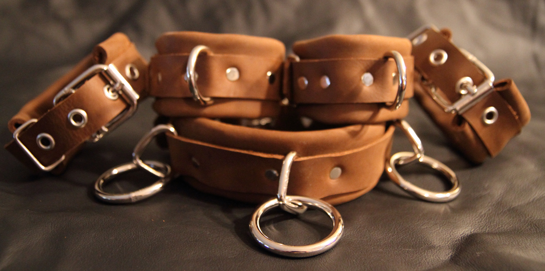 leather wrist ankle cuffs