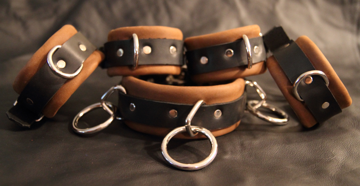 Soft leather restraint cuffs
