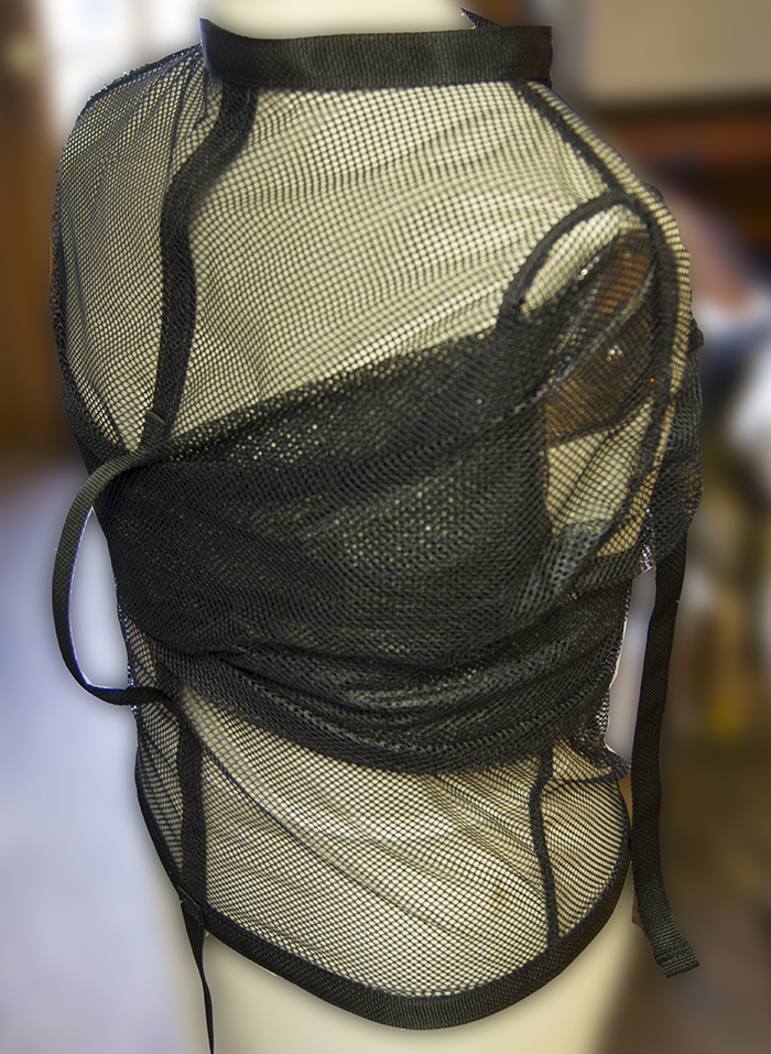 mesh clear see through straight jacket