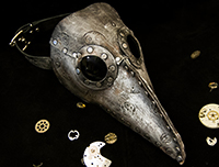 plague doctor mask silver