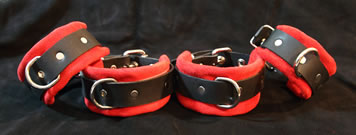 leather wrist and ankle cuffs restraint